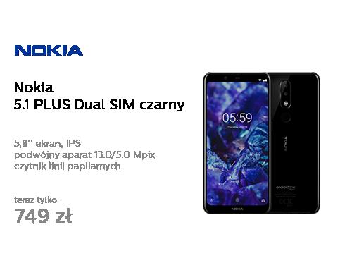 Nokia 5.1 PLUS Dual SIM czarny