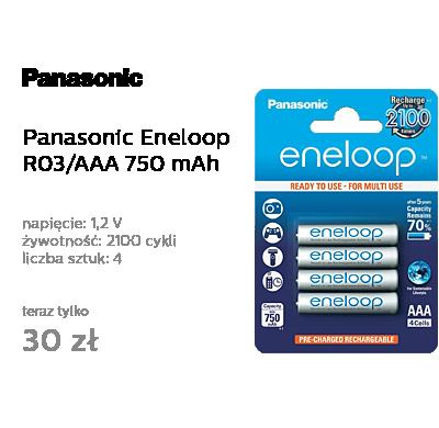 Panasonic Eneloop R03 /AAA 750 mAh (4 szt.) Blister
