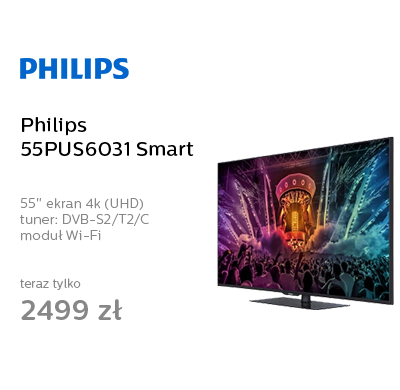 Philips 55PUS6031 Smart 4K WiFi 2xHDMI DVB-T/C/S
