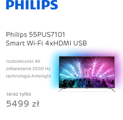 Philips 55PUS7101 Smart 4K 2000Hz WiFi 4xHDMI USB