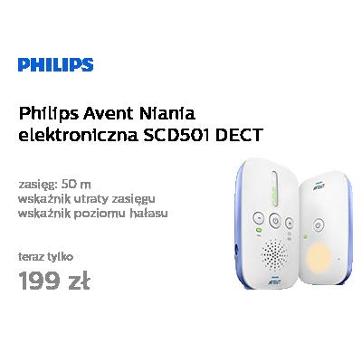 Philips Avent Niania elektroniczna SCD501 DECT