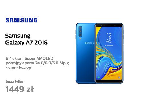 Samsung Galaxy A7 A750F 2018 4/64GB LTE FHD+ Niebieski