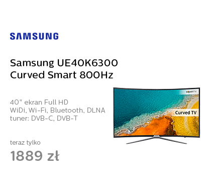 Samsung UE40K6300 Curved Smart FullHD 800Hz WiFi