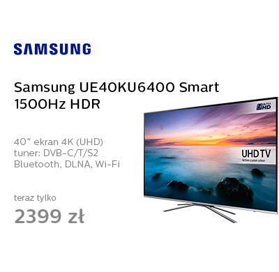 Samsung UE40KU6400 Smart 1500Hz HDR