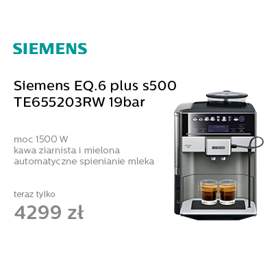 Siemens EQ.6 plus s500 TE655203RW 19bar