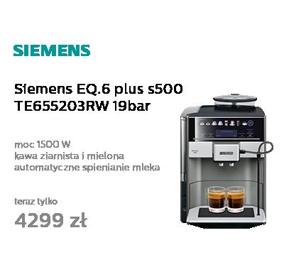 Siemens EQ.6 plus s500 TE655203RW 19bar