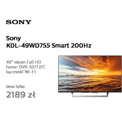 Sony KDL-49WD755 Smart FullHD 200Hz WiFi HDMI DVB-T/C/S