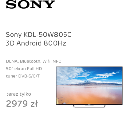 Sony KDL-50W805C 3D Android FullHD 800Hz Wi-Fi 4xHDMI