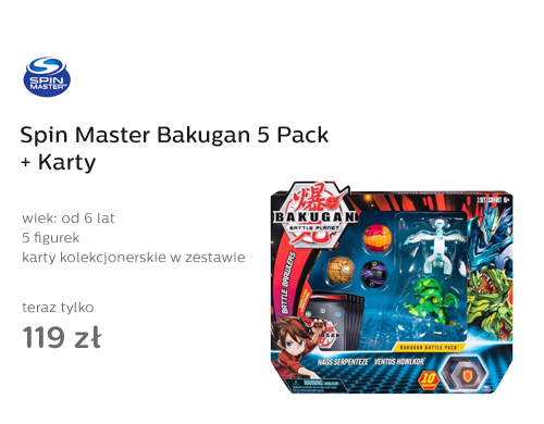 Spin Master Bakugan 5 Pack + Karty