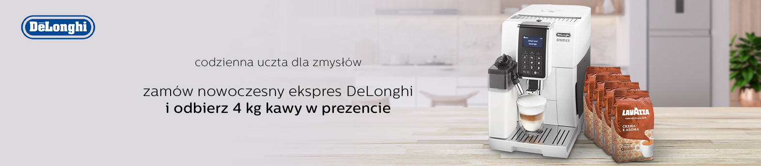 DeLonghi - 4 kg kawy gratis