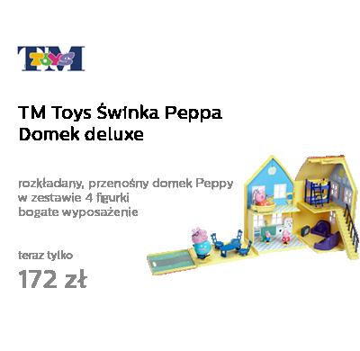 TM Toys Świnka Peppa - Domek deluxe z 4 figurkami