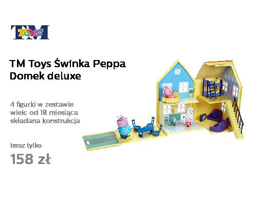 TM Toys Świnka Peppa Domek deluxe z 4 figurkami