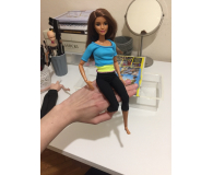 Test Barbie Made to Move niebieski top