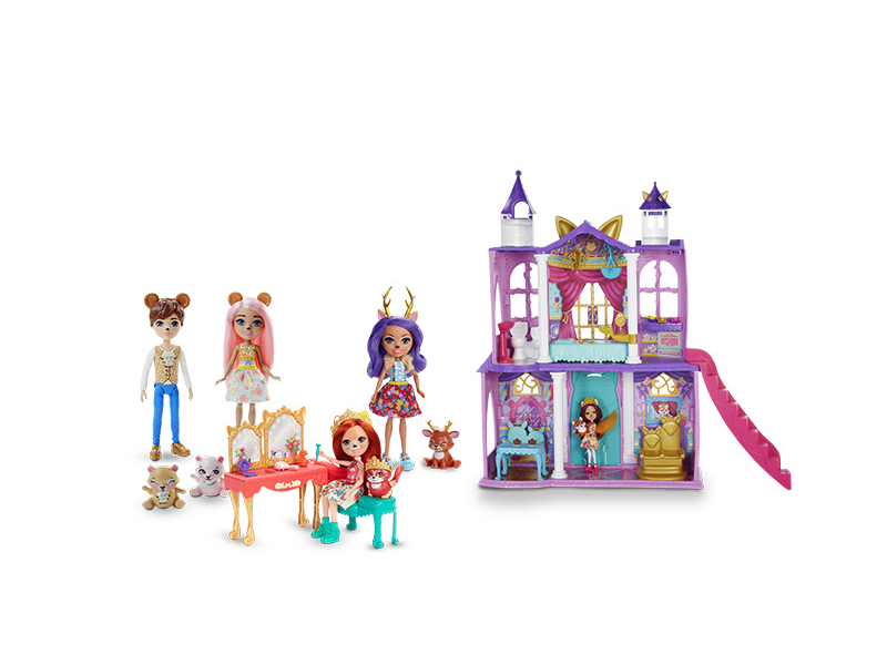 Stwórz wyjątkowy zestaw Enchantimals  zamów królewski pałac i dobierz trzy laleczki z rabatem 30%
