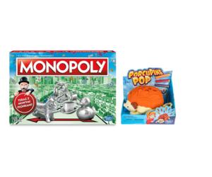 Hasbro Zestaw: Monopoly Classic + Strzelający Jeżozwierz