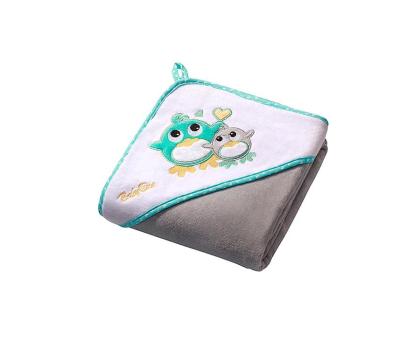 BabyOno Okrycie Kąpielowe Ręcznik Z Kapturem 100x100 Szary-427124 - Zdjęcie 1