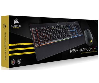 Corsair K55 Gaming Keyboard & Harpoon Mouse Combo (RGB)-393181 - Zdjęcie 3