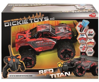 Dickie Toys Samochód Terenowy Red Titan-407682 - Zdjęcie 3