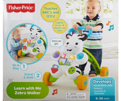 Fisher-Price Interaktywny chodzik Zebra-311510 - Zdjęcie 6