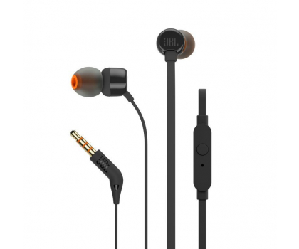 JBL T110 PureBass słuchawki dokanałowe czarne -363604 - Zdjęcie 1
