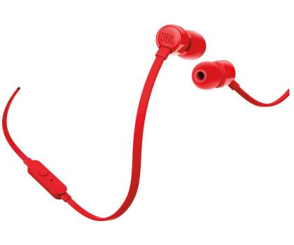 JBL T110 PureBass słuchawki dokanałowe czerwone-371917 - Zdjęcie 2