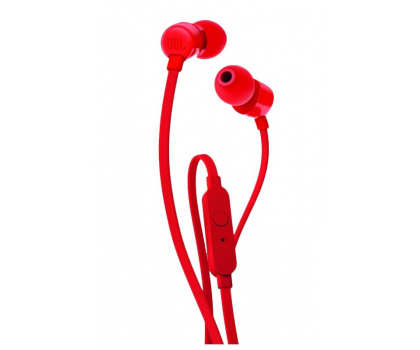 JBL T110 PureBass słuchawki dokanałowe czerwone-371917 - Zdjęcie 1