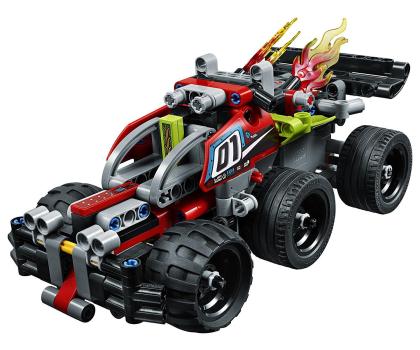 LEGO Technic Żółta wyścigówka-395190 - Zdjęcie 4