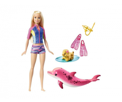 Mattel Barbie Nurkowanie z delfinem zestaw-375682 - Zdjęcie 1