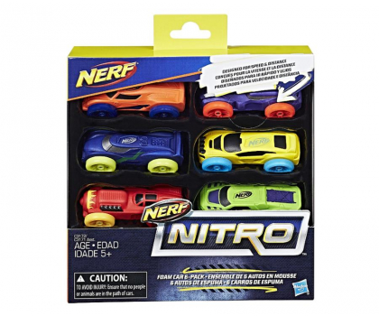 NERF Nitro Foam Car 6pak-373146 - Zdjęcie 1