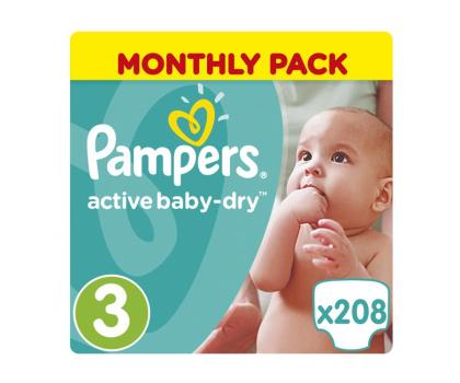 Pampers Active Baby Dry 3 Midi 5-9kg 208szt Na Miesiąc-339026 - Zdjęcie 1