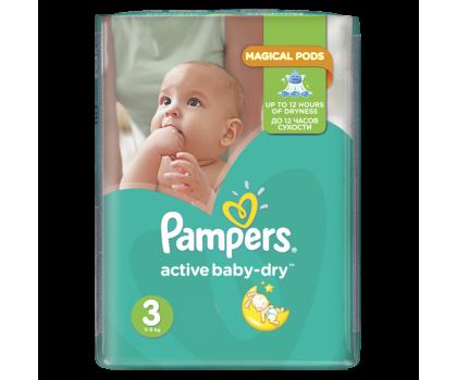 Pampers Active Baby Dry 3 Midi 5-9kg 208szt Na Miesiąc-339026 - Zdjęcie 2