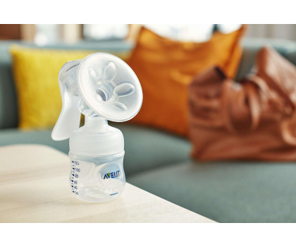 Philips Avent Laktator Ręczny NATURAL +Butelka 125ml 0m+-320330 - Zdjęcie 3