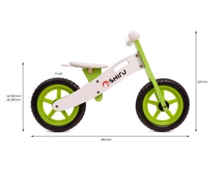 SHIRU Rowerek biegowy zielony-305491 - Zdjęcie 2