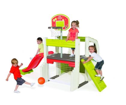 Smoby Centrum zabawy ze zjeżdżalnią i koszykówką-349272 - Zdjęcie 2