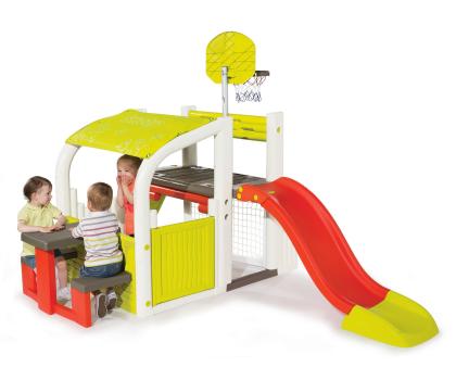 Smoby Centrum zabawy ze zjeżdżalnią i koszykówką-349272 - Zdjęcie 4
