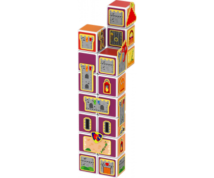 TM Toys MAGICUBE Zestaw zamki i domki-382204 - Zdjęcie 4