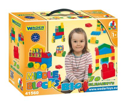 """Wader Klocki Middle Blocks - Zestaw """"Big""""-175589 - Zdjęcie 1"""