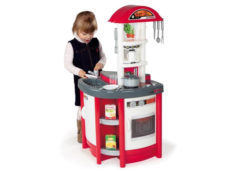 Smoby Kuchnia Mini Tefal Studio czerwona  AGD dla dzieci   -> Kuchnia Dla Dzieci Mini Tefal