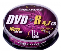 Płyta DVD+R Esperanza 4.7GB 16x CAKE 10szt.