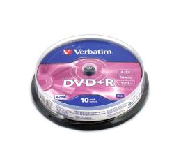 Płyta DVD+R Verbatim 4.7GB 16x (AZO) CAKE 10szt.
