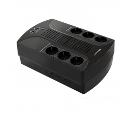 Zasilacz awaryjny (UPS) Qoltec Monolith (650VA/390W, 6xSchuko, AVR, USB, LCD)