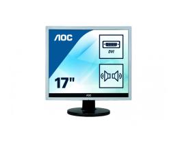 """Monitor LED 21"""" i mniejszy AOC E719SDA czarno-srebrny"""
