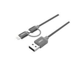 Unitek Kabel USB 2.0 - 2w1 micro USB i Lightning MFI, 1m