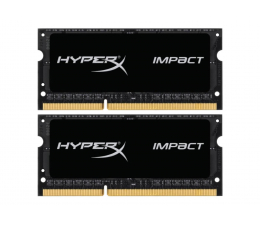 Pamięć RAM SODIMM DDR3 HyperX 16GB (2x8GB) 1600MHz CL9  Impact Black