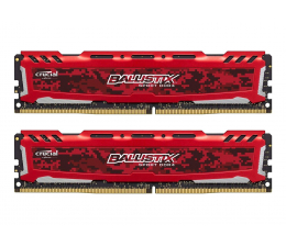 Pamięć RAM DDR4 Crucial 16GB (2x8GB) 3000MHz CL15 Ballistix Sport LT Red