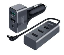 Ładowarka do smartfonów Unitek Ładowarka samochodowa 5 x USB Dwustrefowa QC 3.0