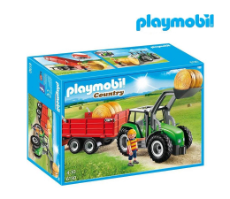 Klocki PLAYMOBIL ® PLAYMOBIL Duży traktor z przyczepą