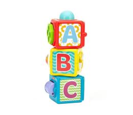 Zabawka dla małych dzieci Fisher-Price Aktywne klocki ze zwierzątkami