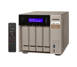 Dysk sieciowy NAS / macierz QNAP TVS-473-8G (4xHDD, 4x2.1-3.4GHz, 8GB, 6xUSB,4xLAN)