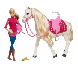Lalka i akcesoria Barbie Interaktywny Koń z Lalką